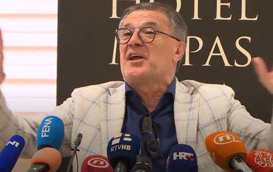 Zdravko Mamić na konferenciji za novinare u Mostaru