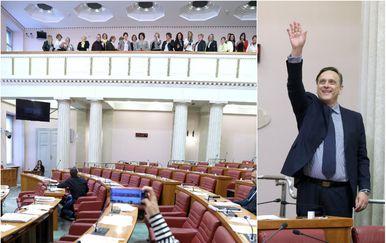 U Saboru više posjetitelja nego zastupnika (Foto: Patrik Macek/PIXSELL)