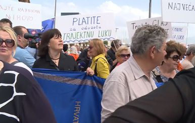 Prosvjedi dočekali Vladu (Foto: Dnevnik.hr) - 2
