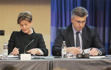 Martina Dalić i Andrej Plenković (Foto: Tomislav Miletic/PIXSELL)