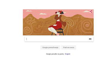 Google Doodle posvećen Mariji Reiche (Screenshot: Google)