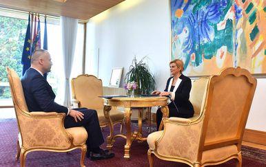 Kolinda Grabar-Kitarović i Daniel Markić (Foto: Ured predsjednice)