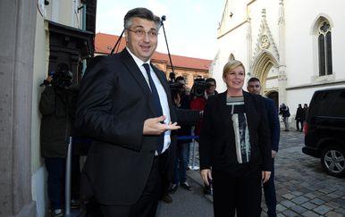 Andrej Planković i Kolinda Grabar-Kitarović (Foto: Marko Lukunic/PIXSELL)