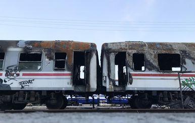 Požar vagona na Glavnom kolodvoru Zagreb (Foto: Davor Visnjic/PIXSELL)