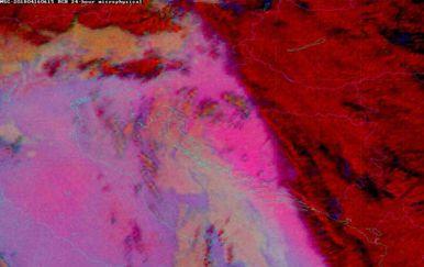 Postoji mogućnost za tzv. blatnu kišu (Foto: DHMZ)