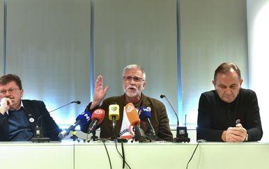 Zagreb: Konferencija za medije čelnika sindikalnih središnjica (Foto: Davorin Visnjic/PIXSELL)