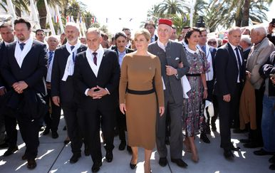 Predsjednica Kolinda Grabar-Kitarović u Splitu (Foto: Miranda Cikotic/PIXSELL)