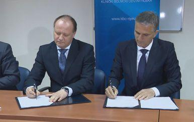 Ravnatelj riječke dječje bolnice Davor Štimac i ministar državne imovine Goran Marić (Foto: Dnevnik.hr)