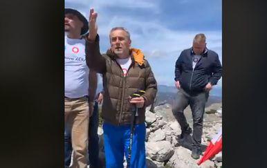 Bandić na Dinari (Screenshot: Facebook)