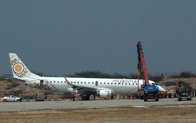 Mianmar, zrakoplovna nesreća (Foto: STR / AFP)