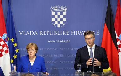 Angela Merkel i Andrej Plenković održali konferenciju za novinare (Foto: Robert Anic/PIXSELL) - 3