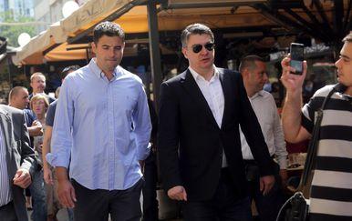 Davor Bernardić i Zoran Milanović (Foto: Luka Stanzl/PIXSELL)