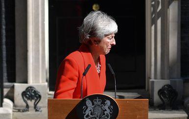 Theresa May najavila ostavku (Foto: Daniel LEAL-OLIVAS / AFP)