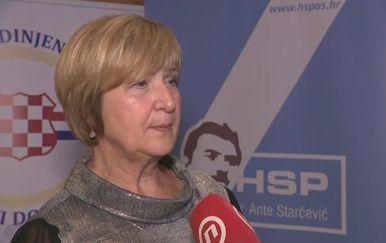 Nositeljica liste Hrvatskih suverenista Ruža Tomašić (Foto: Dnevnik.hr)