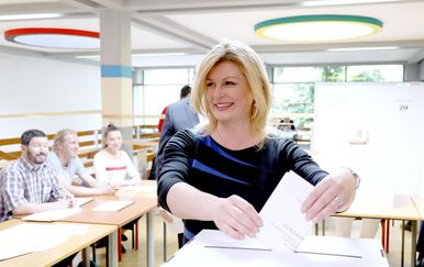 Kolinda Grabar-Kitarović na EU izborima (Foto: Patrik Macek/PIXSELL)