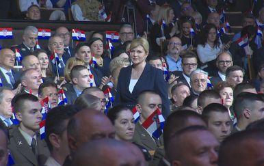 Predsjednica na svečanoj akademiji povodom Dana oružanih snaga (Foto: Dnevnik.hr)