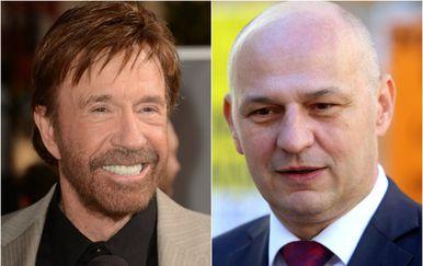 Chuck Norris i Mislav Kolakušić (Foto: Gettyimages/Pixsell)