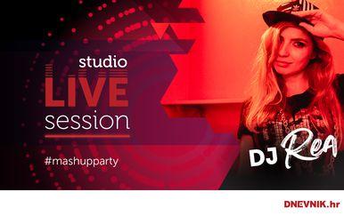 DJ Rea oduševila na Mash up party time-u Studio LIVE Sessiona