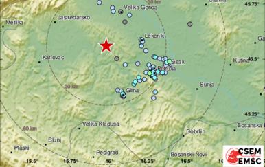 Potres u središnjoj Hrvatskoj