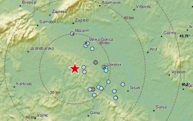 Potres u blizini Zagreba