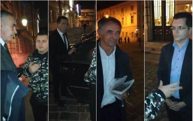 Robert Pilipović pred Saborom sa zastupnicima (Screenshot: Facebook)