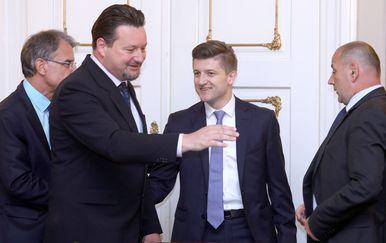 Lovro Kuščević i Zdravko Marić (Foto: Patrik Macek/PIXSELL)