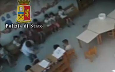 Zlostavljanje u talijanskom vrtiću (Foto: screenshot Polizia di Stato)