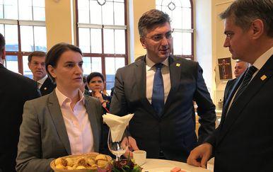 Premijer Andrej Plenković s premijerkom Srbije Anom Brnabić (Foto: Vlada)