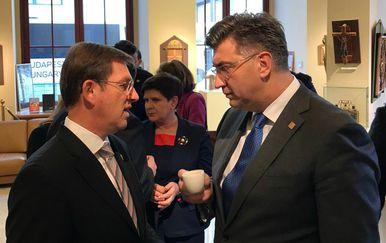 Premijer Andrej Plenković sa slovenskim kolegom Mirom Cerarom (Foto: Vlada)oto: Vlada)