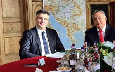 Andrej Plenković i Viktor Orban (Foto: Twitter/VladaRH)