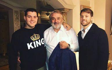 Viktor, Boba i Stefan Živojinović (FOTO: Instagram)