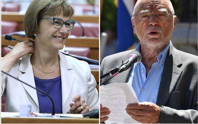 Vesna Pusić i Stipe Mesić (Foto: PIXSELL)