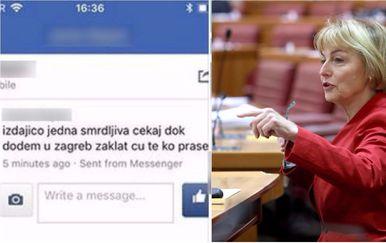 Vesna Pusić primila je prijetnje smrću, s kojima se uspješno obračunala (Foto: screenshot/PIXSELL)