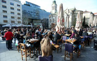 Kafići na Cvjetnom trgu (Foto: Sanjin Strukic/PIXSELL)