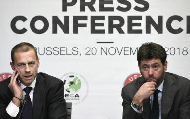 Čeferin i Agnelli (Foto: AFP)