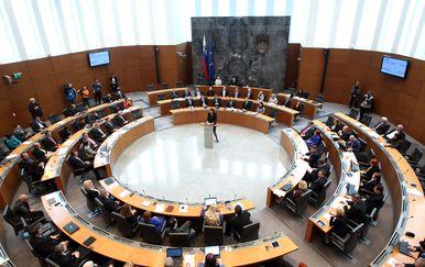 Slovenski parlament (Foto: Željko Lukunić/PIXSELL)