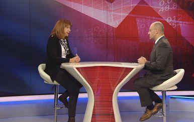 Gordana Deranja, predsjednica Hrvatske udruge poslodavaca, i Mislav Bago (Foto: Dnevnik.hr)