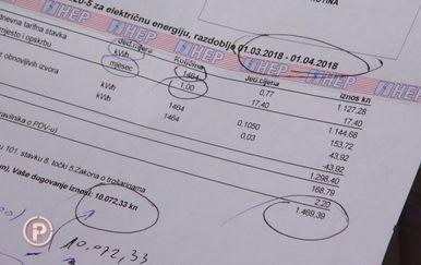 Obitelj Sruk i računi za struju (Foto: Provjereno)