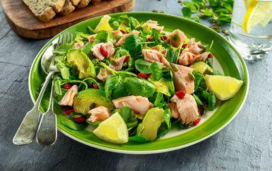 Salata od lososa i avokada