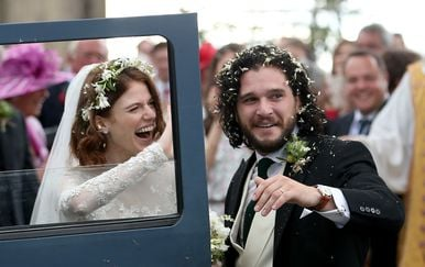 Kit Harington i Rose Leslie (Foto: Jane Barlow/Press Association/PIXSELL)