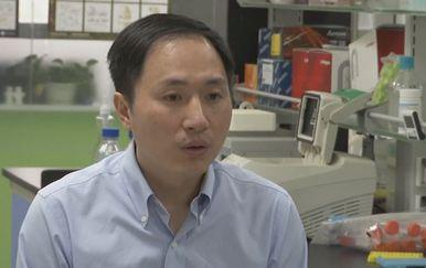Kineski znanstvenik He Jiankui (Screenshot: AP)