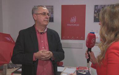 Željko Stipić, predsjednik SZHŠ Preporod, i Barbara Štrbac (Foto: Dnevnik.hr)