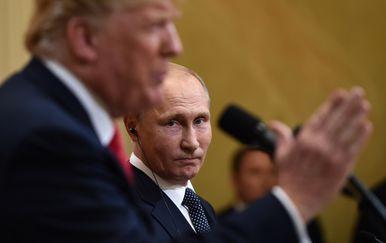 Američki predsjednik Donald Trump i ruski predsjednik Vladimir Putin (Foto: AFP)