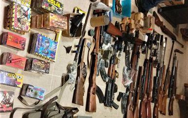 Pronađeno oružje na Korčuli (Foto: MUP)