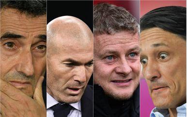 Valverde, Zidane, Solskjaer i Kovač (Foto: AFP)