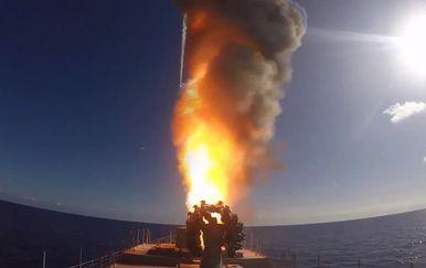 Ispaljivanje rakete s ruske korvete