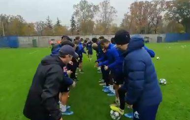 Slavljenje Olmova poziva (Foto: Screenshot/GNK Dinamo)