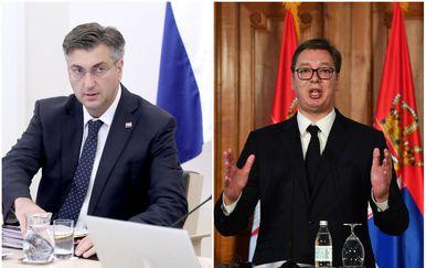 Andrej Plenković i Aleksandar Vučić (Foto: Pixell)