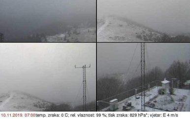 Snijeg na Zavižanu (Foto: DHMZ)
