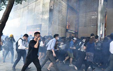 Prosvjedi u Hong Kongu (Foto: AFP)
